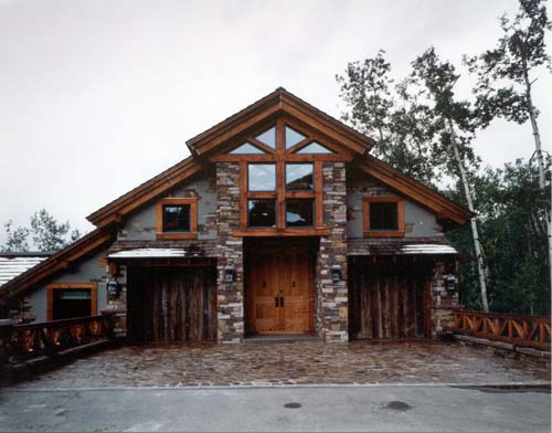 Timber frame projects for Small timber frame house
