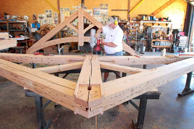 Timber Framing - Building a Truss